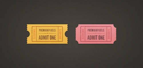 Admit One Ticket Stubs by ormanclark