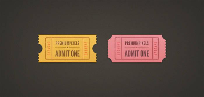 Admit One Ticket Stubs
