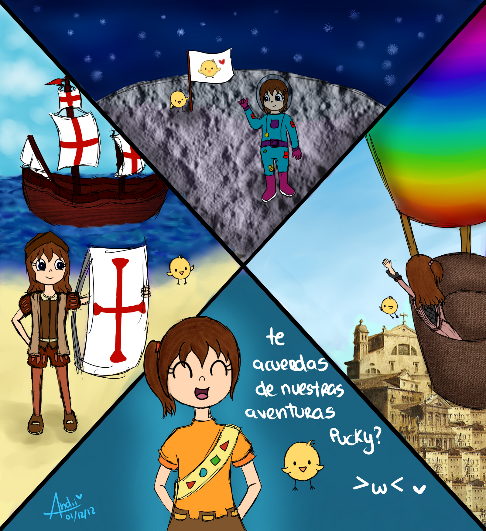 Contest - Alrededor del mundo, a traves del tiempo by AndiiGrr