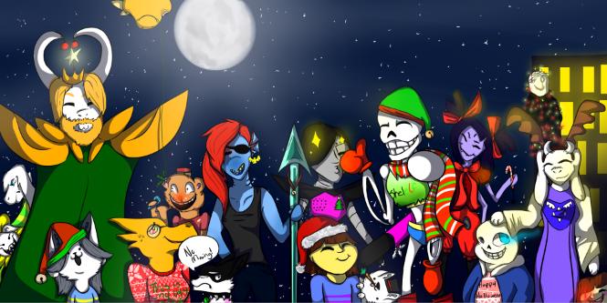 Undertale Christmas.A Very Merry Undertale Christmas By Wolfie Dah Butt On