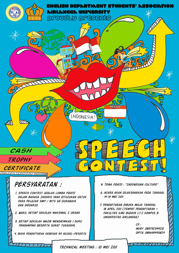 speech contest The nma leadership speech contest is open to students in grades 9-12 and is a unique opportunity to research, write, and present a 4-6 minute address to an nma audience the subject the subject leadership - what it is, what comprises its attributes, who personifies your definition of a leader, or whatever else works its way into the.