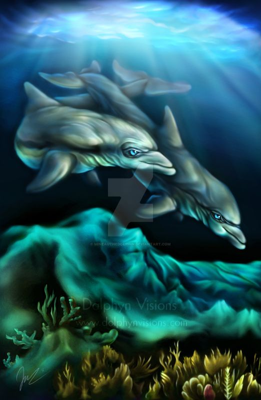 Azure World by Dolphyn (Mineau the Dolphin) by MineauTheDolphin