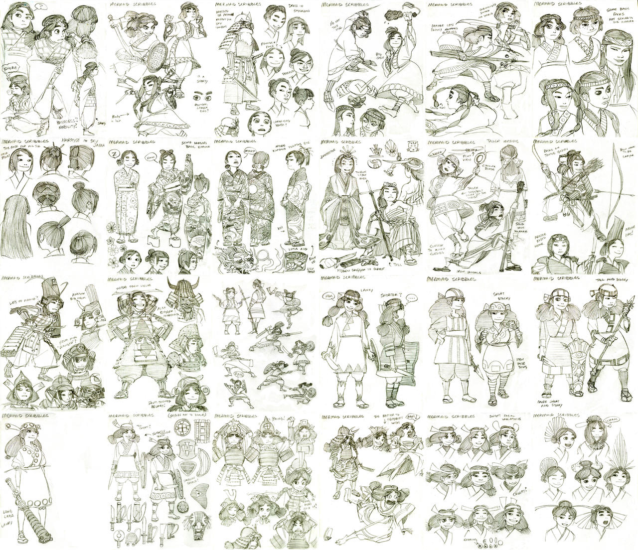 Sketchdump I Mermaid Process Sketches by RockFistedPotatoStew