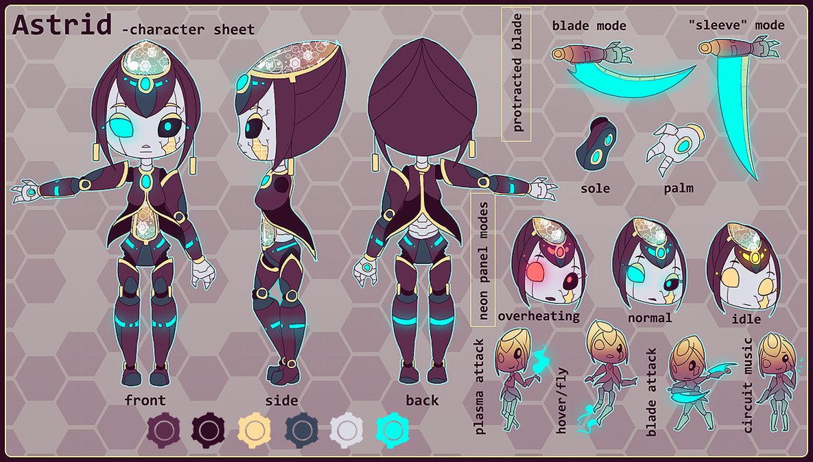Character Design Ref Sheet : Astrid character reference by chicinlicin on deviantart