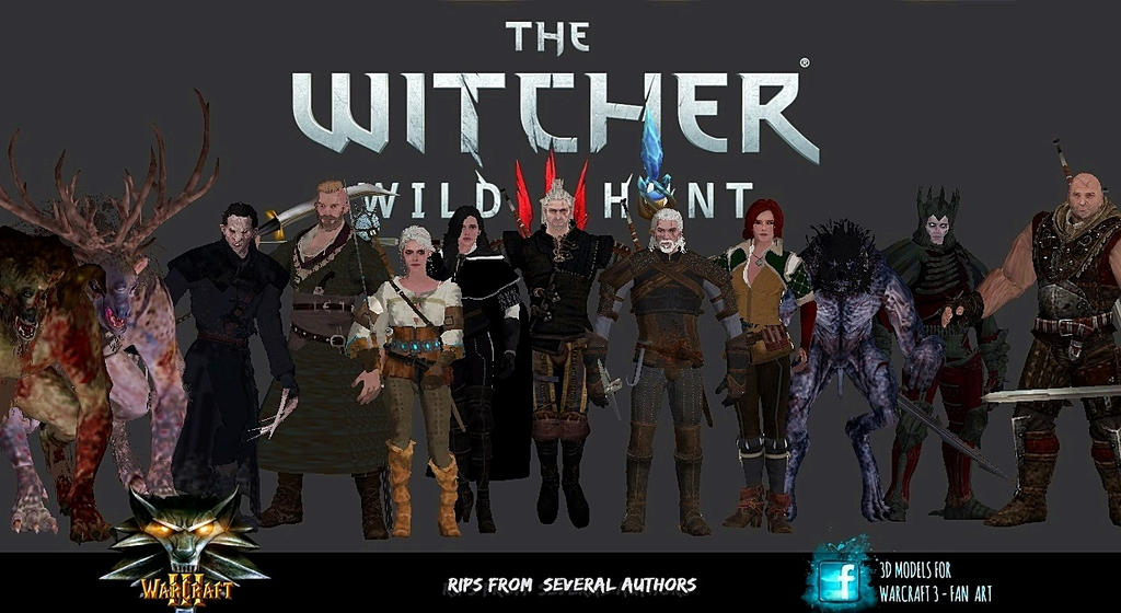 Pack 3D Models The Witcher III Pack_3d_models_the_witcher_iii_by_jhotam-dchjtq2