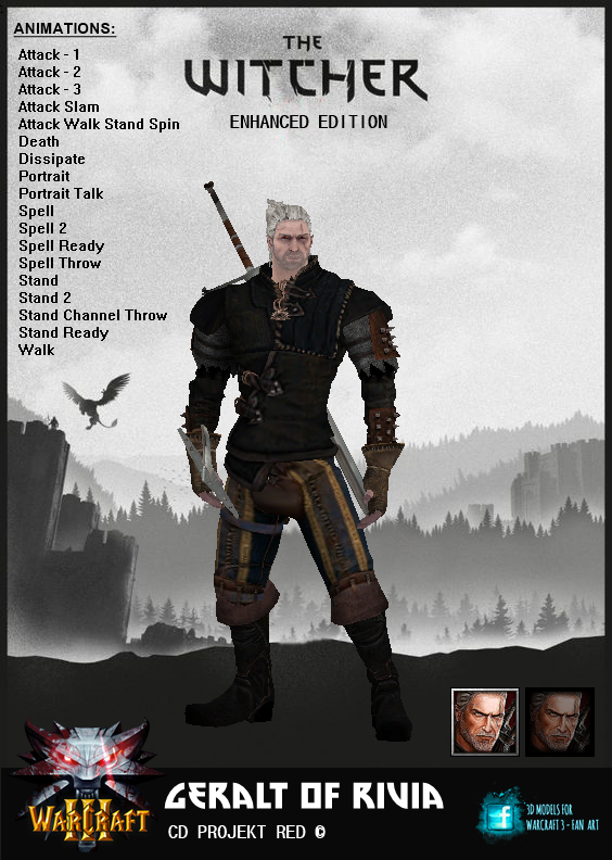 3D Model - Geralt Of Rivia 3d_model___geralt_of_rivia_by_jhotam-dcie9lu