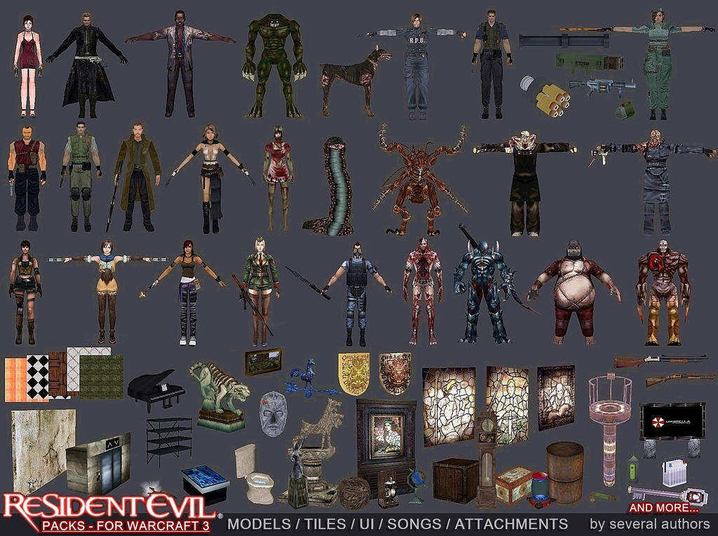 (Model 3d) Tyrant - RE Resident_evil_3d_models_pack_by_jhotam-dclfqiq