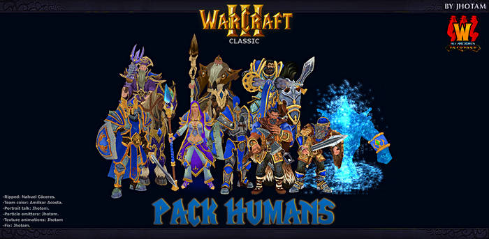 3D Models -Pack Humanos WCR -WC3