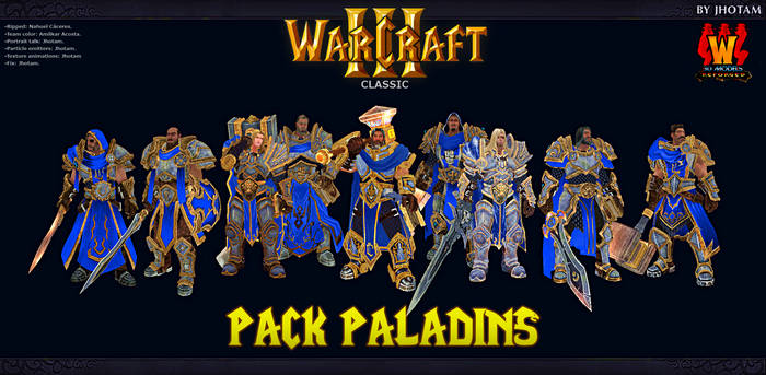 3D Models -Pack Paladines WCR -WC3