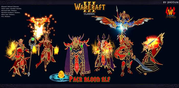 3D Models -Pack Elfos de sangre WCR -WC3