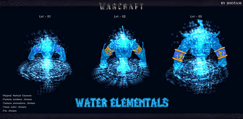 3D Models -Pack Elementales de agua WCR -WC3