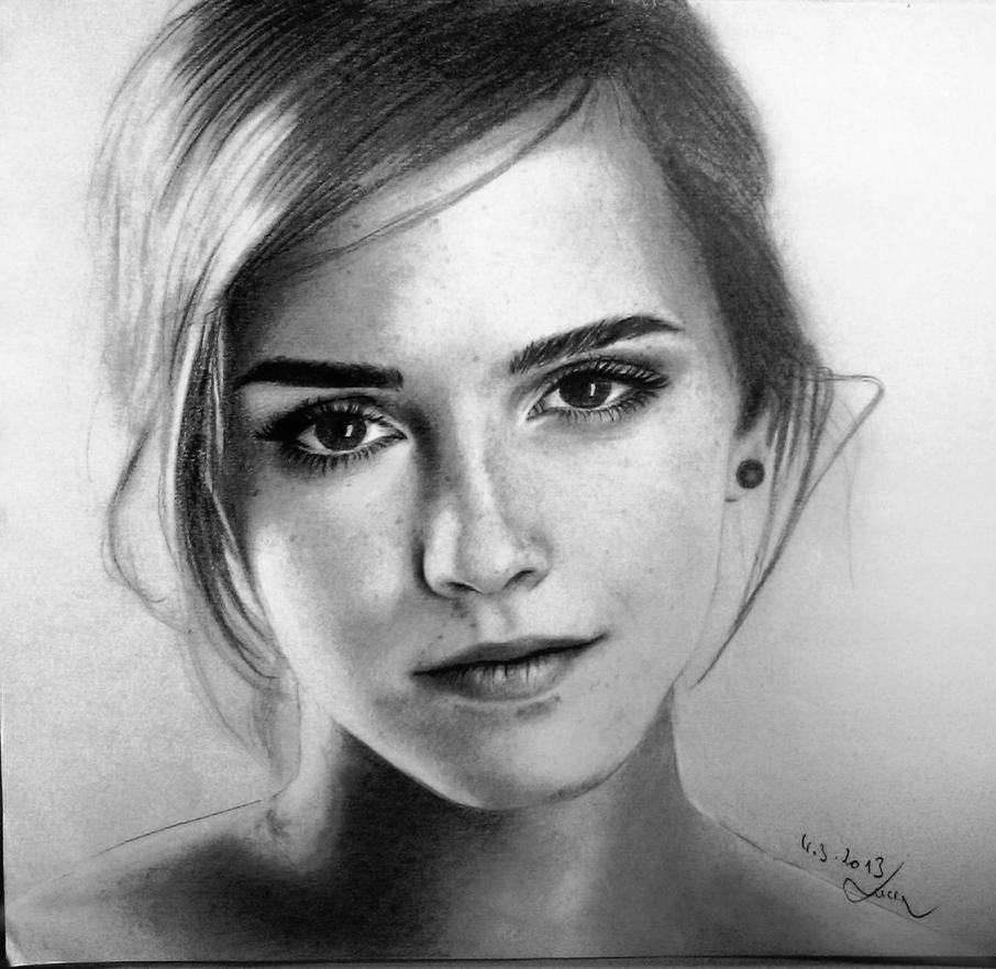 Emma Watson Drawing by MissRoxyMFC