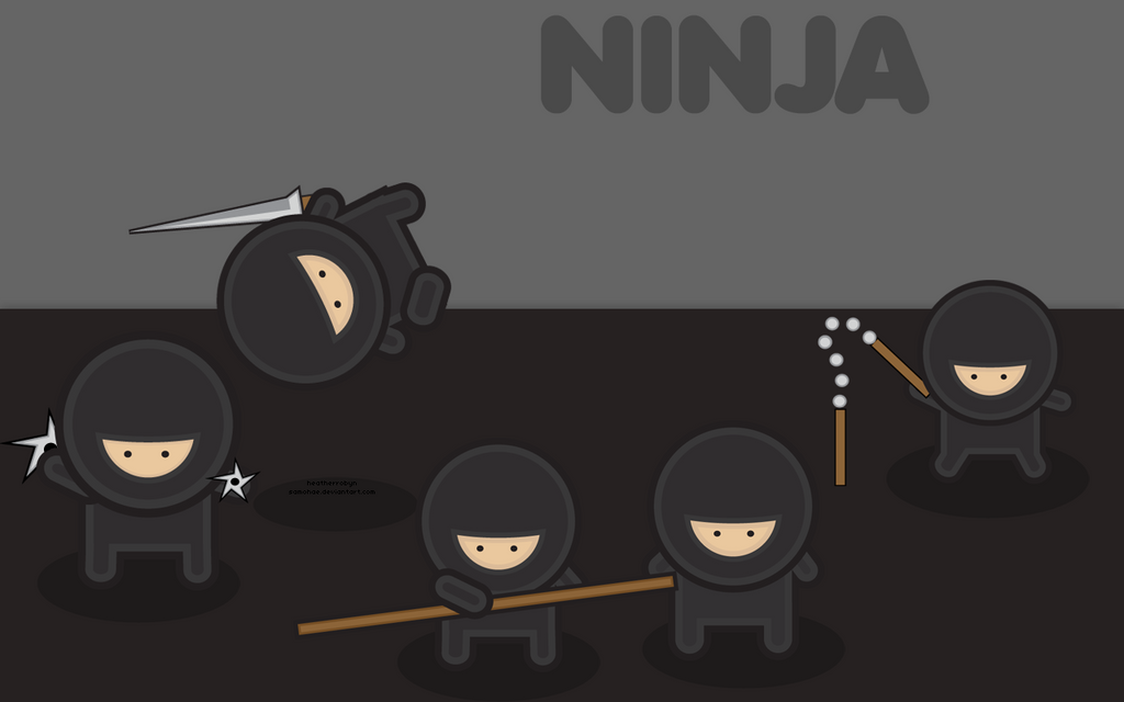 wallpaper ninja. Wallpaper: Ninja by ~Samohae
