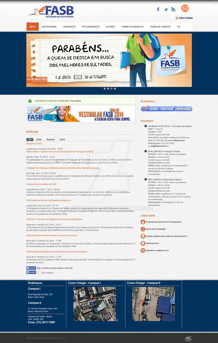 Website FASB - Faculdade do Sul da Bahia by TuhCaldas