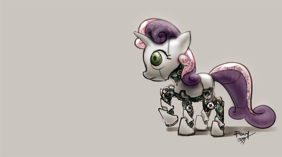 Sweetie Bot by ponyrake