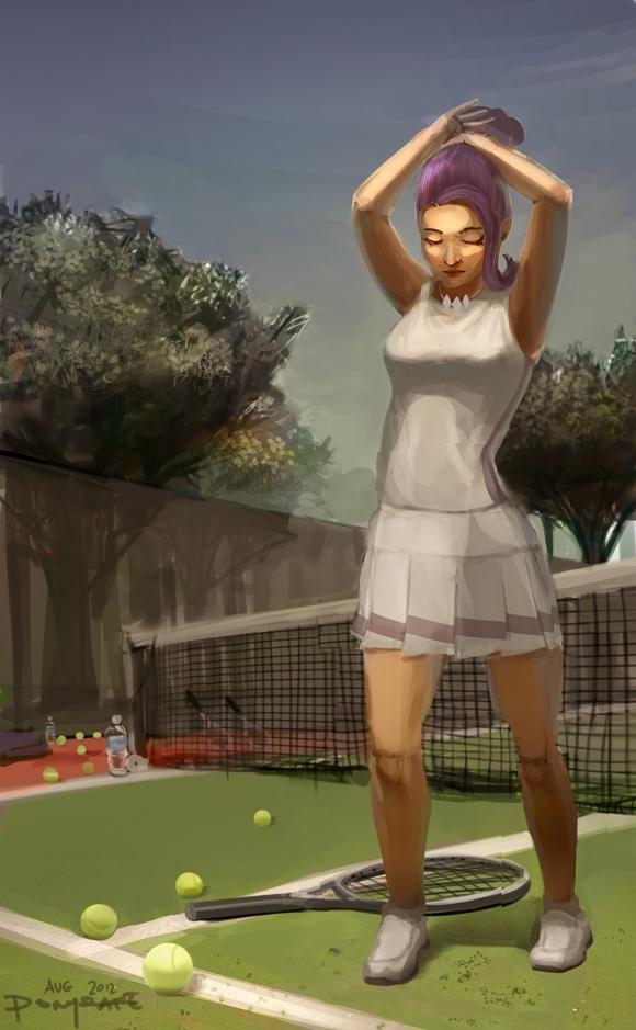 Human High School Ponies: Tennis Queen Rarity by ponyrake