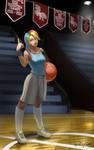 Human High School Ponies: Basketball Rainbow Dash