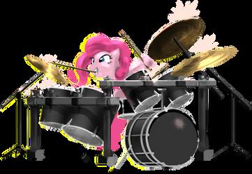 Pinkiedrums by ponyrake