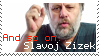 Slavoj Zizek Stamp by Afonek