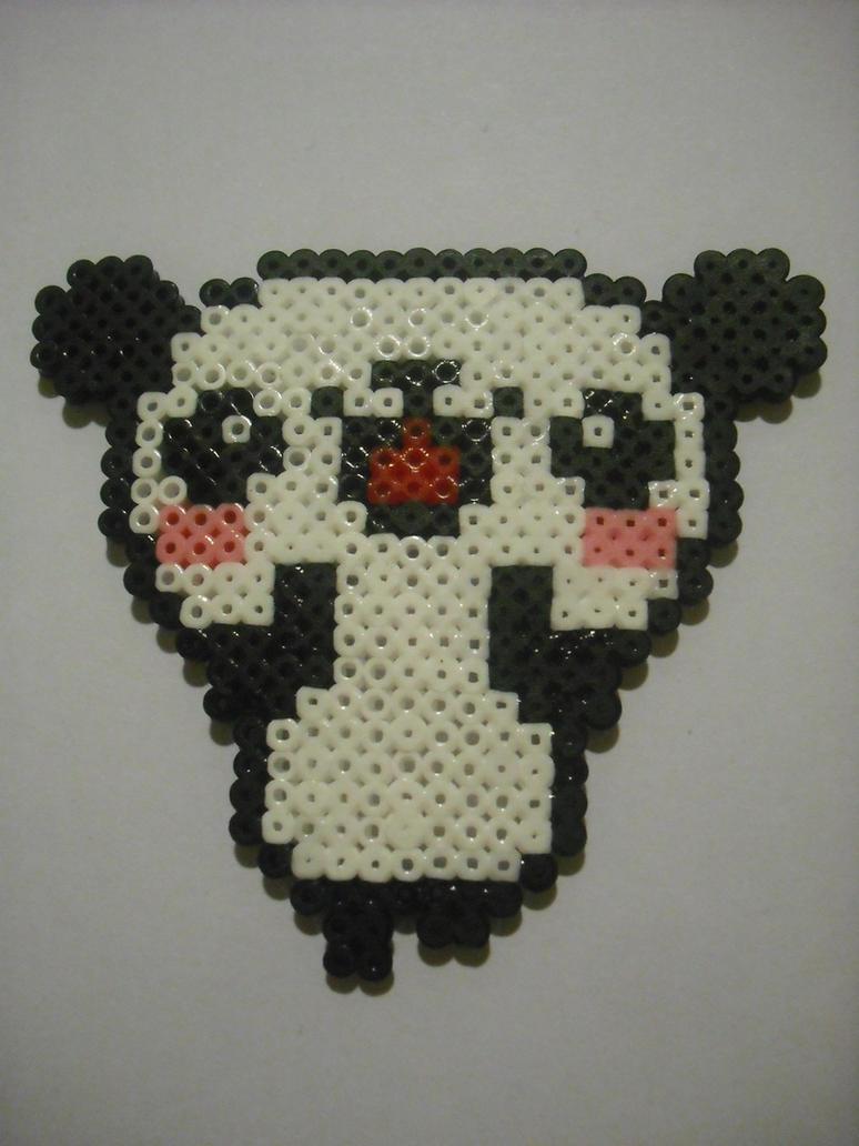 Hama Beads-Panda Bear by Majoelx on DeviantArt