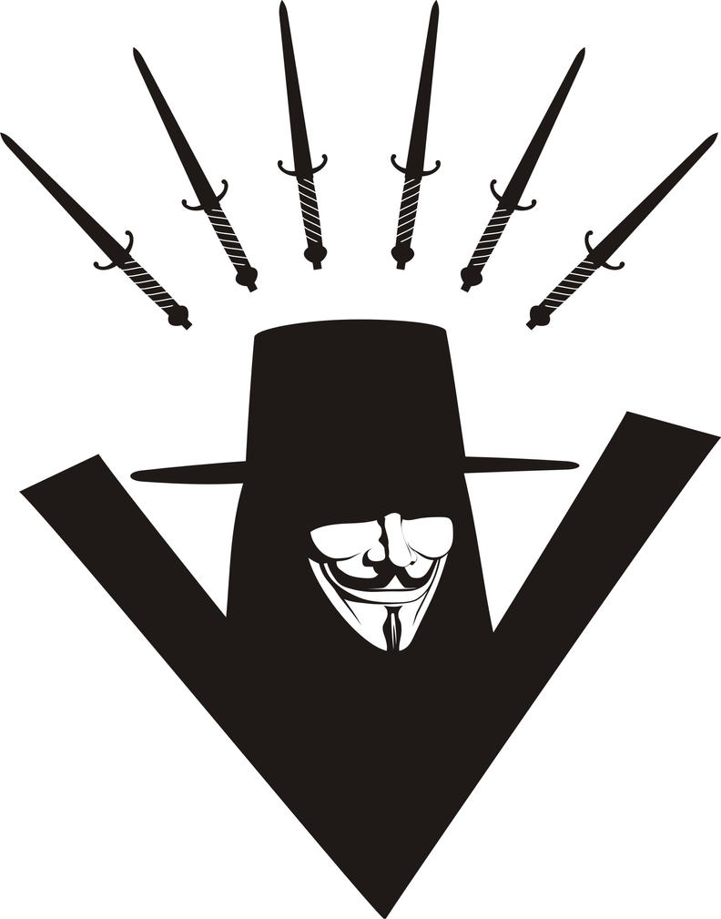 how to draw the vendetta mask