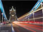 Tower Bridge Traffic Trails.