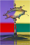 Multi coloured splash