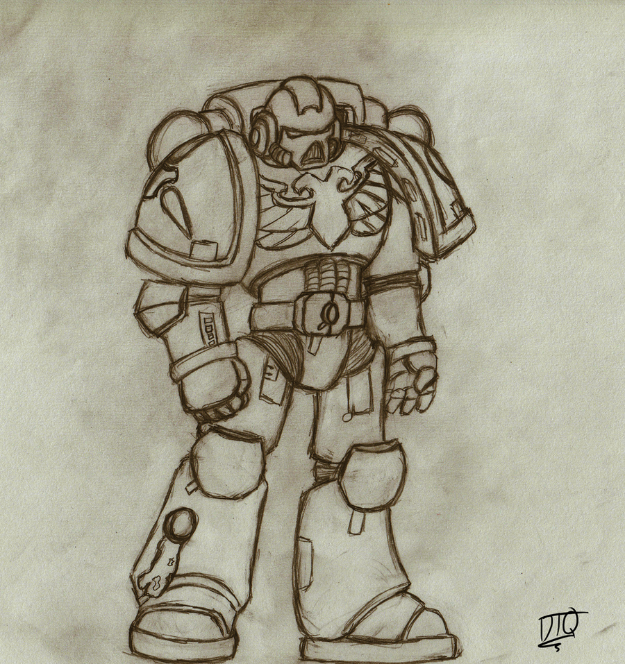 Starhunters Tactical Marine Sketch by ShalkenTanari