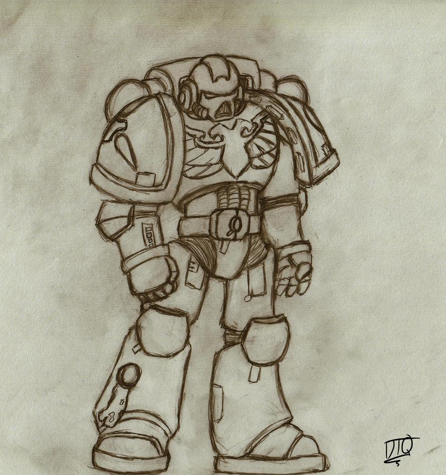 Starhunters Tactical Marine Sketch by ShalkenTanari