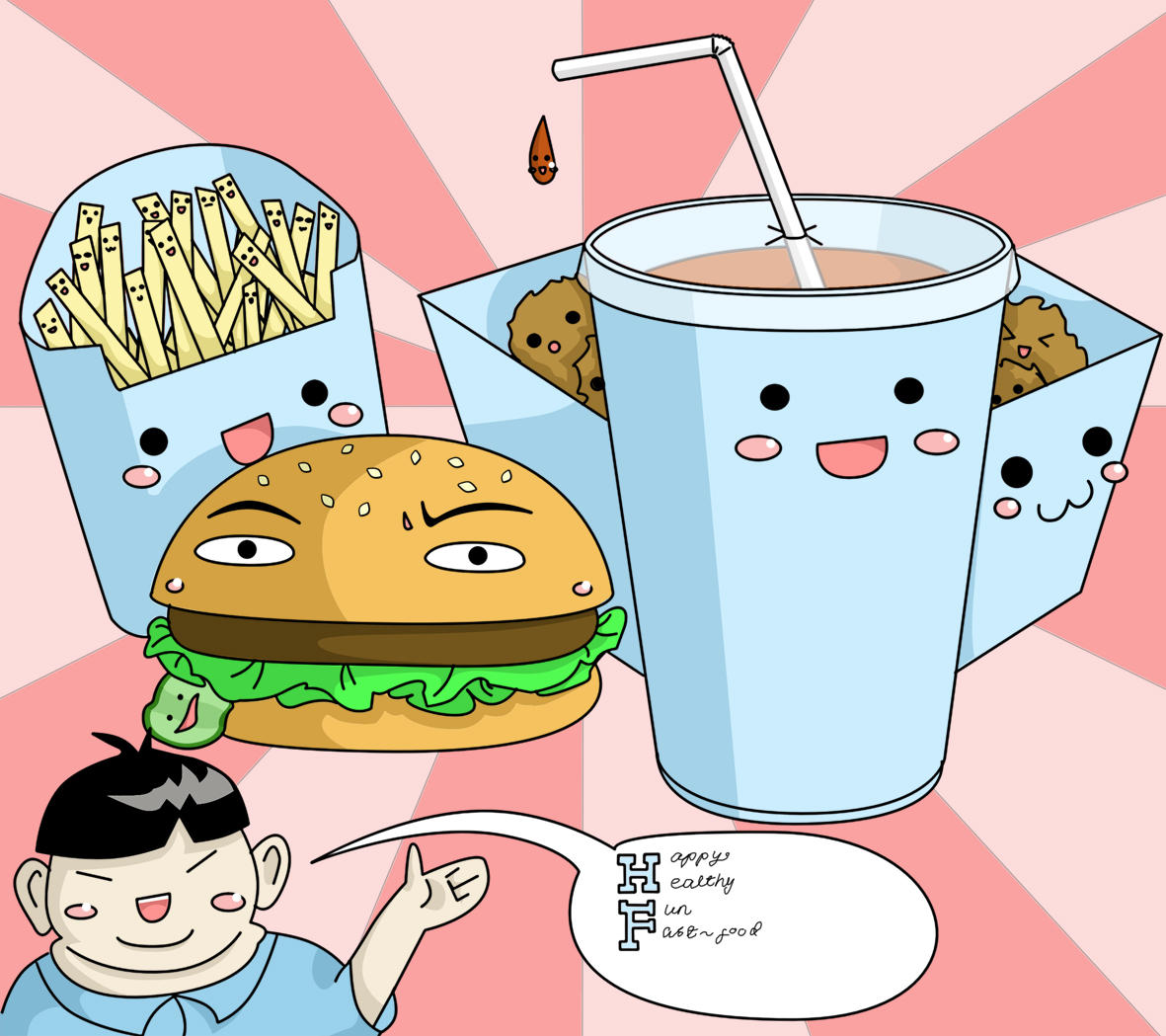 Fast food with faces D: weird by supernyo on DeviantArt