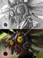 Skull Kid sketch by AlvinRPG