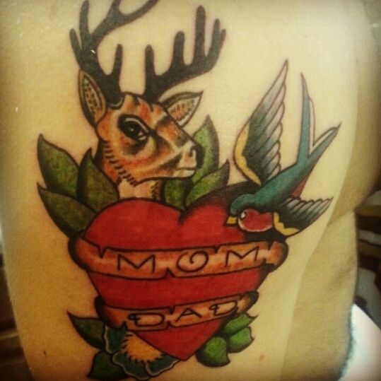 Heart And Mom Dad Tattoo: Mom And Dad Heart Tattoo By DeadMemory444 On DeviantArt