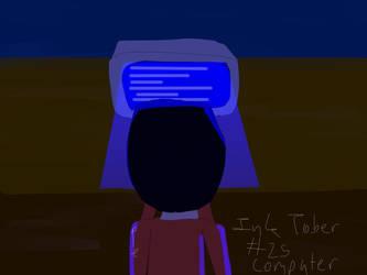 InkTober Day 25-Computer by TheYummyPie