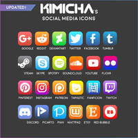 Social Media Buttons by Kimicha