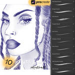 Sketch Pencil Brushes for Procreate by KiraMarieArt