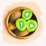 Kiwi Watercolour Study | Kira-Marie Art by KiraMarieArt