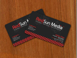RedSun Media Business Cards by Juliangoesrawr