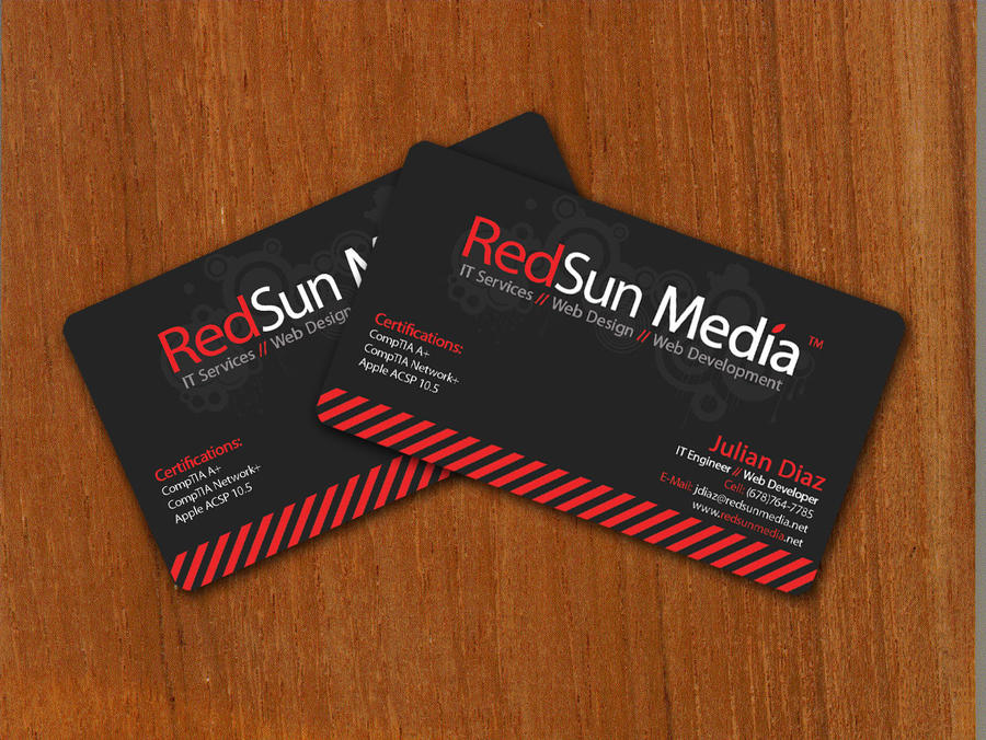 Redsun media business cards by juliangoesrawr on deviantart redsun media business cards by juliangoesrawr reheart Images