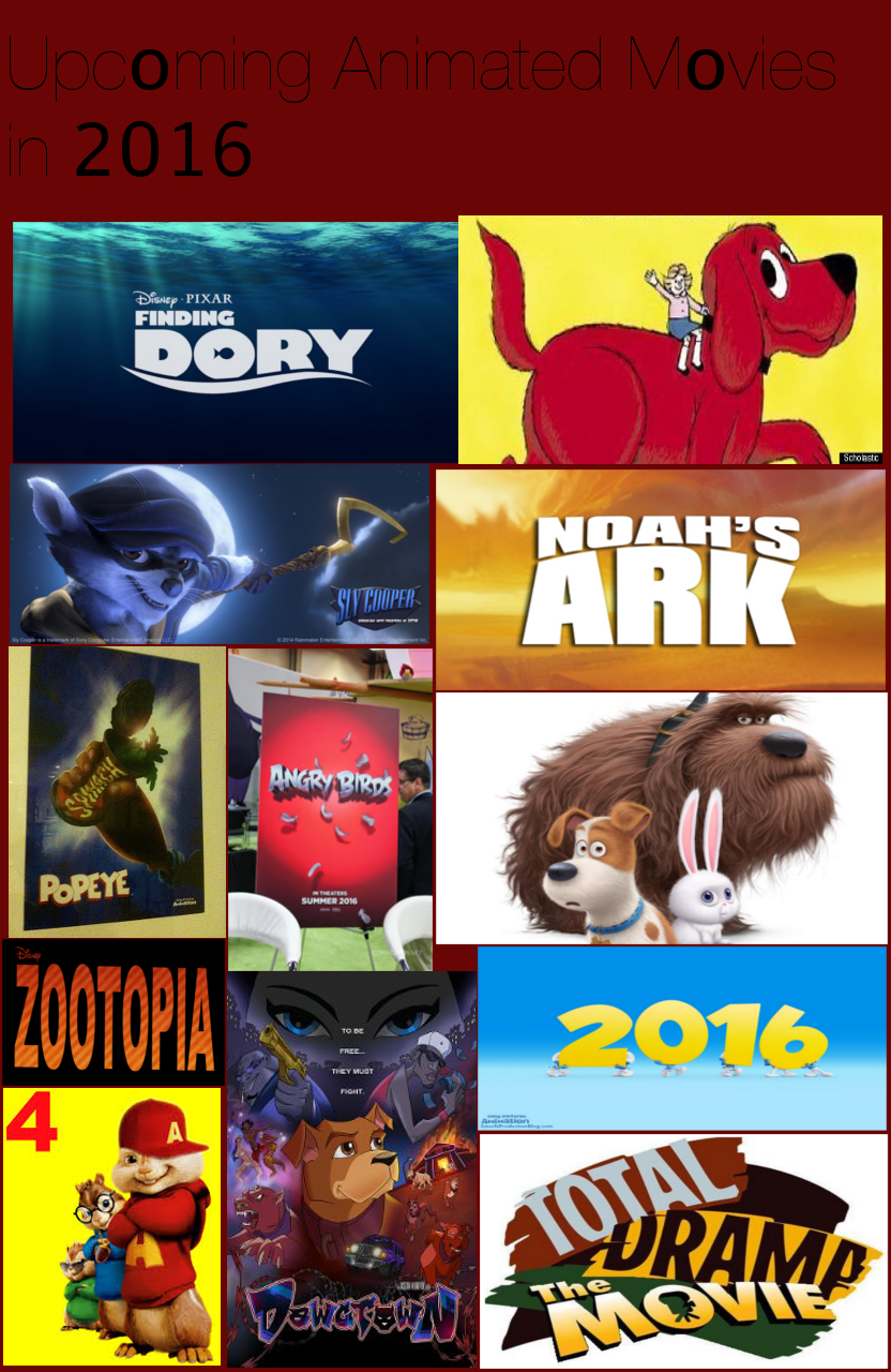 Upcoming Animated movies in 2016 by dmonahan9 on DeviantArt