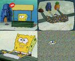 Spongebob in the stores meme