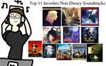 Top 11 Favorites Non-disney Soundtracks