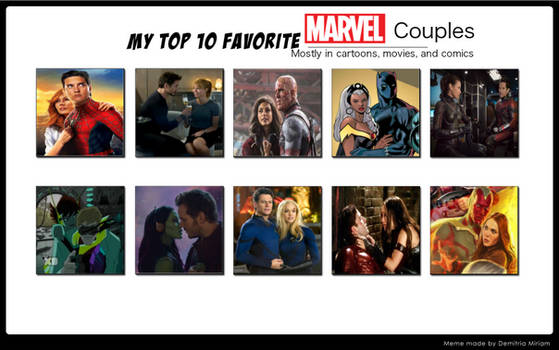 My 10 favorite Marvel couples