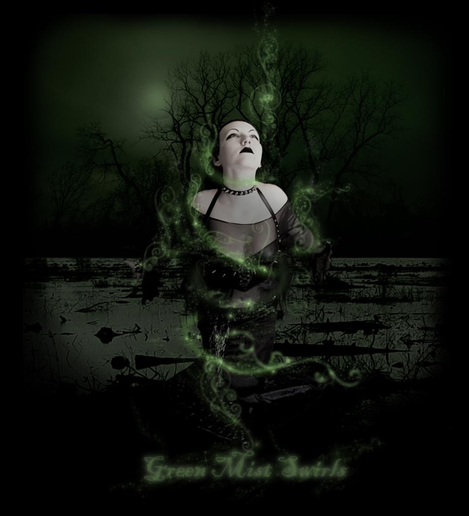 Green Mist Swirls