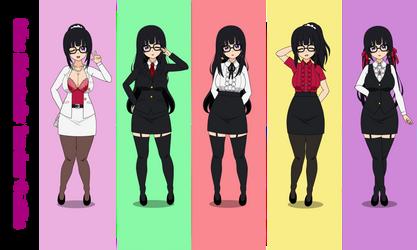 Teacher Outfits of Miss Shiratori