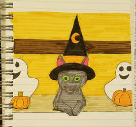 Witch Kitty by gamerkittylilly