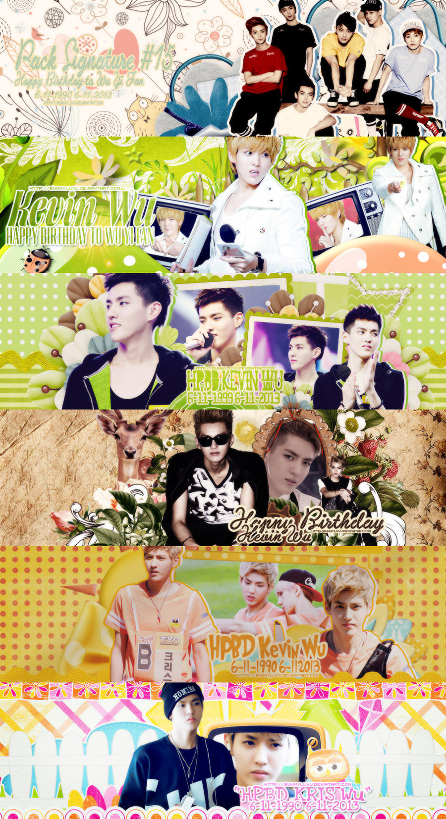 Pack Signature #15 [Only KRIS] HPBD To KRIS by BunnyLuvU