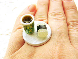 Ring Green Tea And Rice Ball by souzoucreations