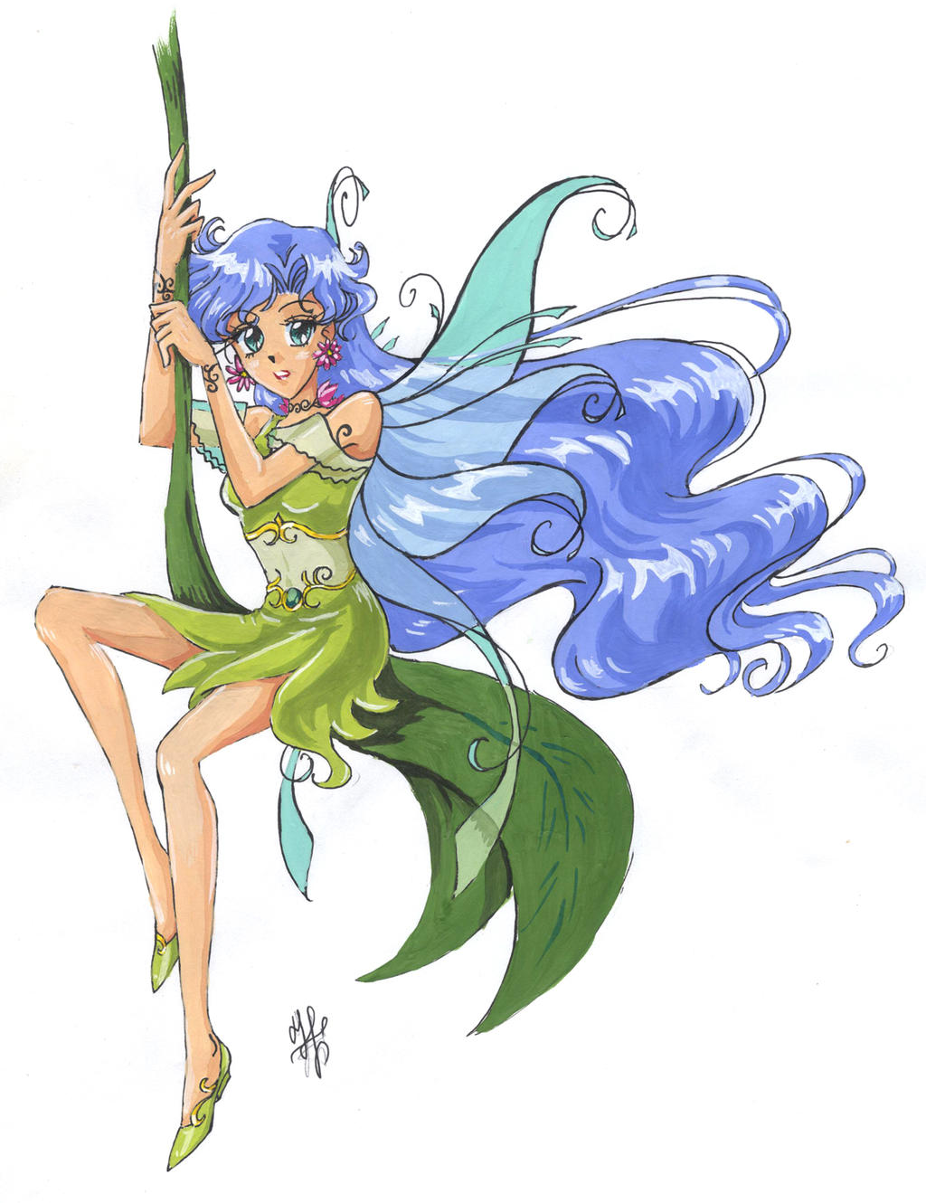 Leaf Fairy -colour- by nephrite-butterfly on DeviantArt