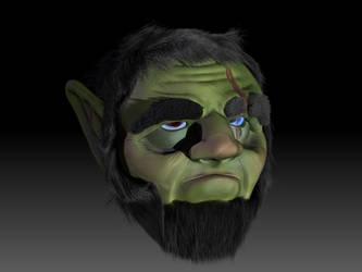 Orc Head Practice by MichaelDickey