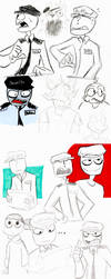 Rebornica FNAF Study Sketches by FunStorytimeStudios